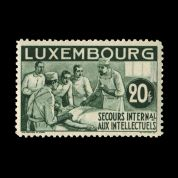 TUT1226 - Luxembourg : International Relief Fund 20f deep green. CLICK FOR FULL DESCRIPTION
